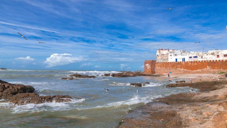 Atlantik okyanusu kenarında olan Essaouira sehri