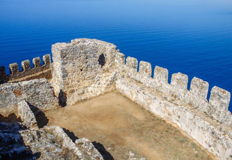 Alanya kalesi'nin en yüksek yerinde bulunan terastan doğuya bakan tarafı