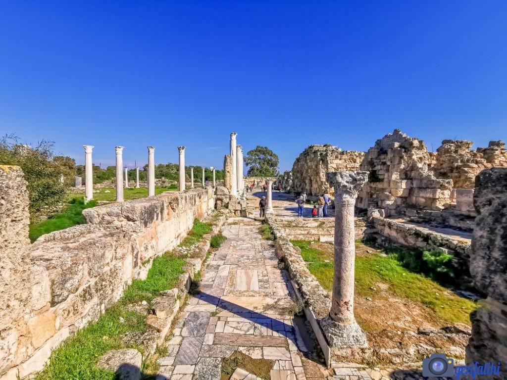 Salamis antik şehri roma dönemi yapıları