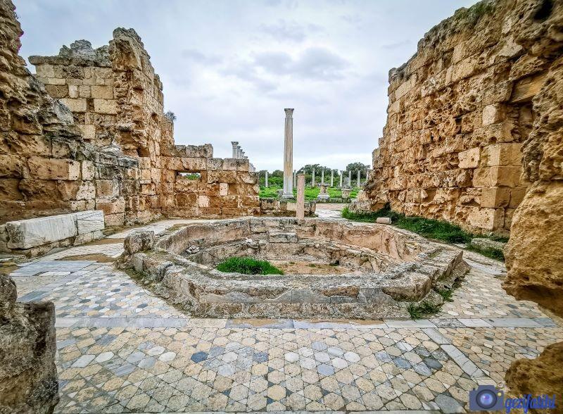 Salamis antik şehri hamamının bir bölümü